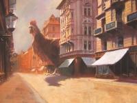 Wściekła kura grasuje po mieście