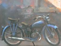 Niebieski motorower