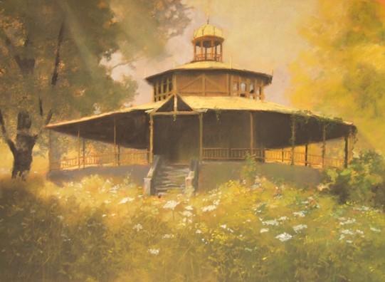 Altana w ogrodzie|pastel